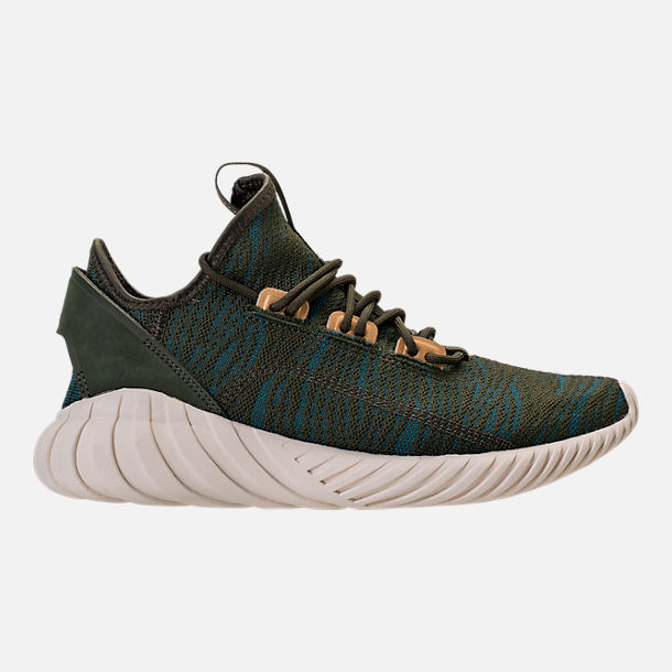 Right view of Women's adidas Tubular Doom Sock Casual Shoes in Night Cargo/Teal/Copper