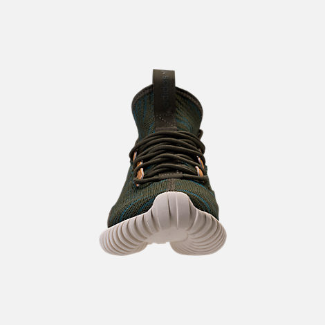 Front view of Women's adidas Tubular Doom Sock Casual Shoes in Night Cargo/Teal/Copper