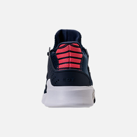 Back view of Boys' Preschool adidas EQT Basketball ADV Casual Shoes in Collegiate Navy/Real Coral