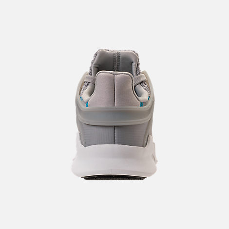 Back view of Boys' Grade School adidas EQT Support ADV Casual Shoes in Grey/Grey