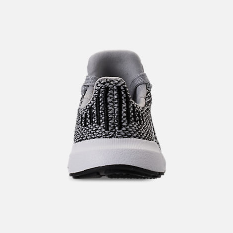 Back view of Boys' Toddler adidas Swift Run Casual Shoes in Grey/White/White