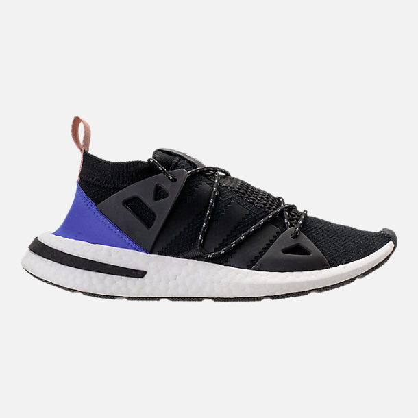 Right view of Women's adidas Originals Arkyn Boost Casual Shoes in Core Black/Ash Pearl