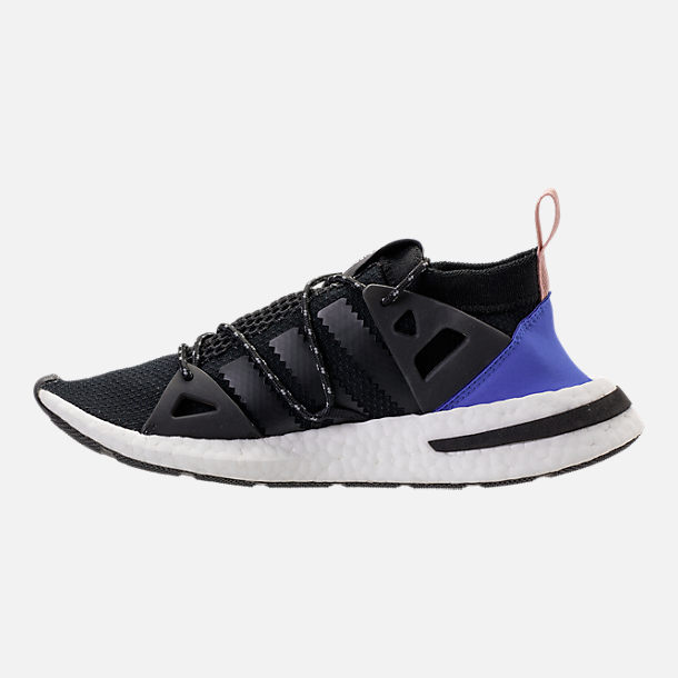 Left view of Women's adidas Originals Arkyn Boost Casual Shoes in Core Black/Ash Pearl