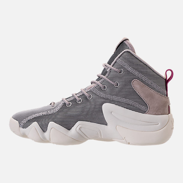 Left view of Women's adidas Crazy 8 Casual Shoes in Platinum Metallic/Off White