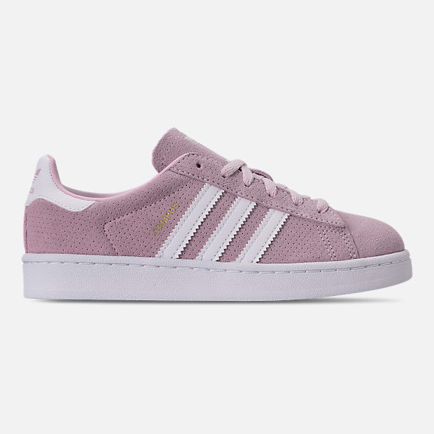 Right view of Girls' Little Kids' adidas Campus adicolor Casual Shoes in Aero Pink/Footwear White