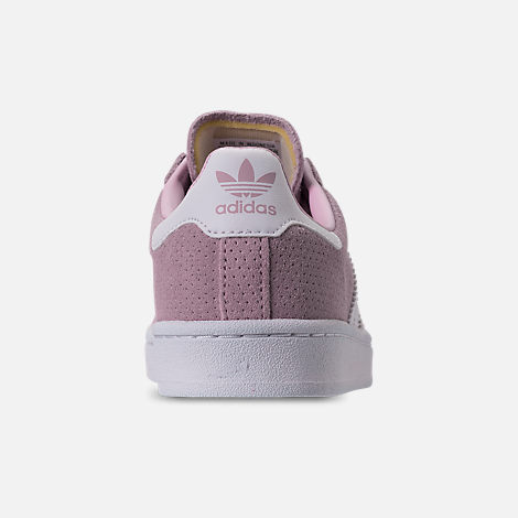 Back view of Girls' Little Kids' adidas Campus adicolor Casual Shoes in Aero Pink/Footwear White
