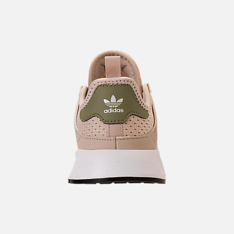 Back view of Boys' Preschool adidas Originals X_PLR Casual Shoes in Clear Brown/White