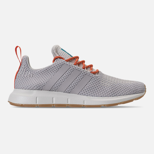 Right view of Men's adidas Swift Run Running Shoes in Crystal White/Grey/White Tint