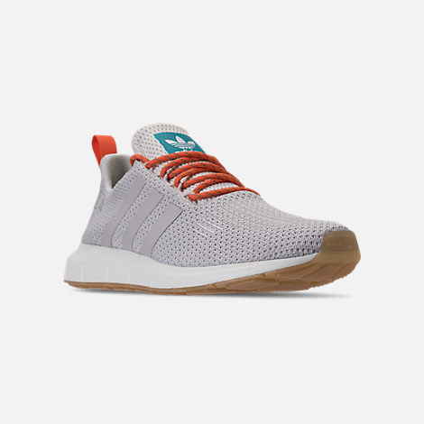 Three Quarter view of Men's adidas Swift Run Running Shoes in Crystal White/Grey/White Tint