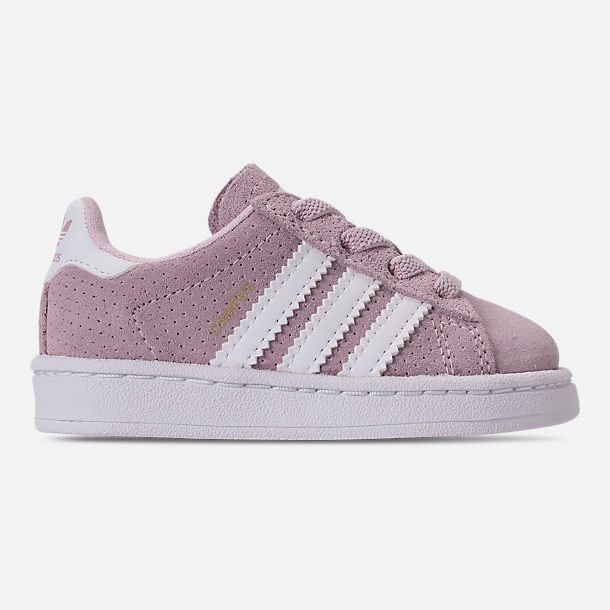 Right view of Girls' Toddler adidas Campus adicolor Casual Shoes in Aero Pink/Footwear White