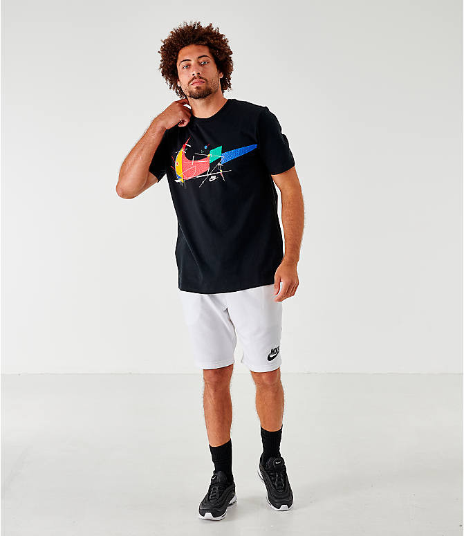 Front Three Quarter view of Men's Nike Sportswear Game Changer T-Shirt in Black