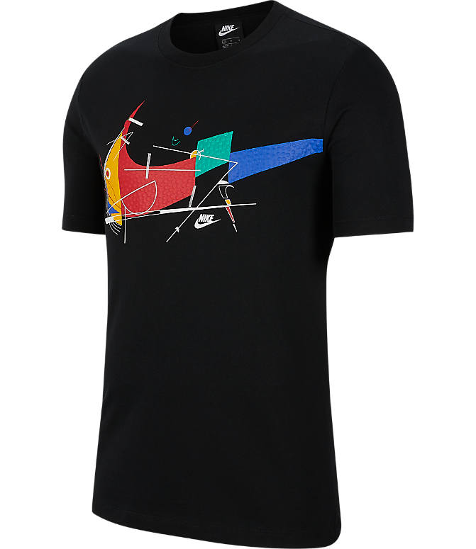 Front view of Men's Nike Sportswear Game Changer T-Shirt in Black