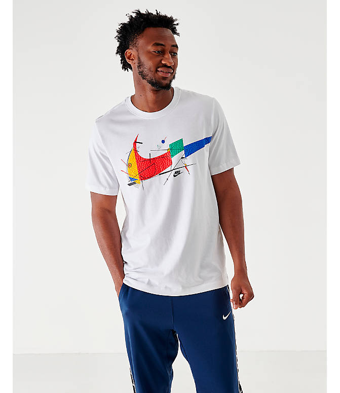 Front view of Men's Nike Sportswear Game Changer T-Shirt in White