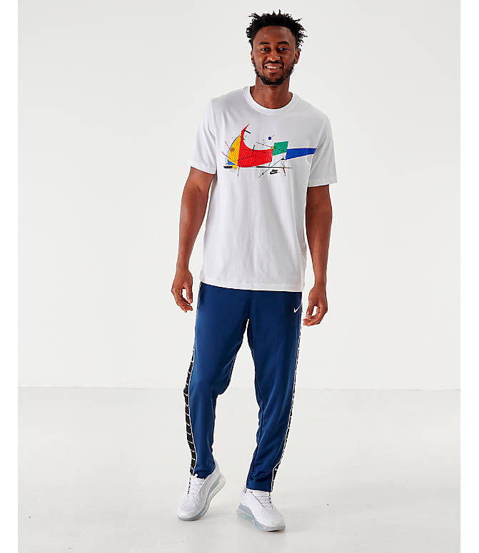 Front Three Quarter view of Men's Nike Sportswear Game Changer T-Shirt in White