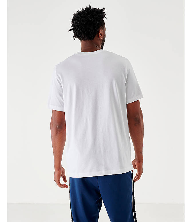 Back Left view of Men's Nike Sportswear Game Changer T-Shirt in White