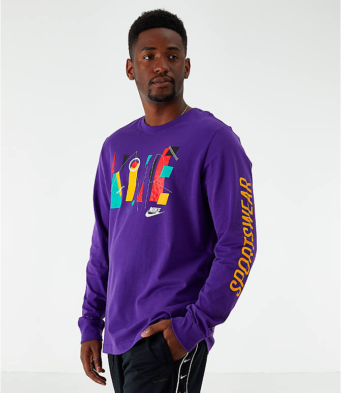 Front view of Men's Nike Sportswear Game Changer Long-Sleeve T-Shirt