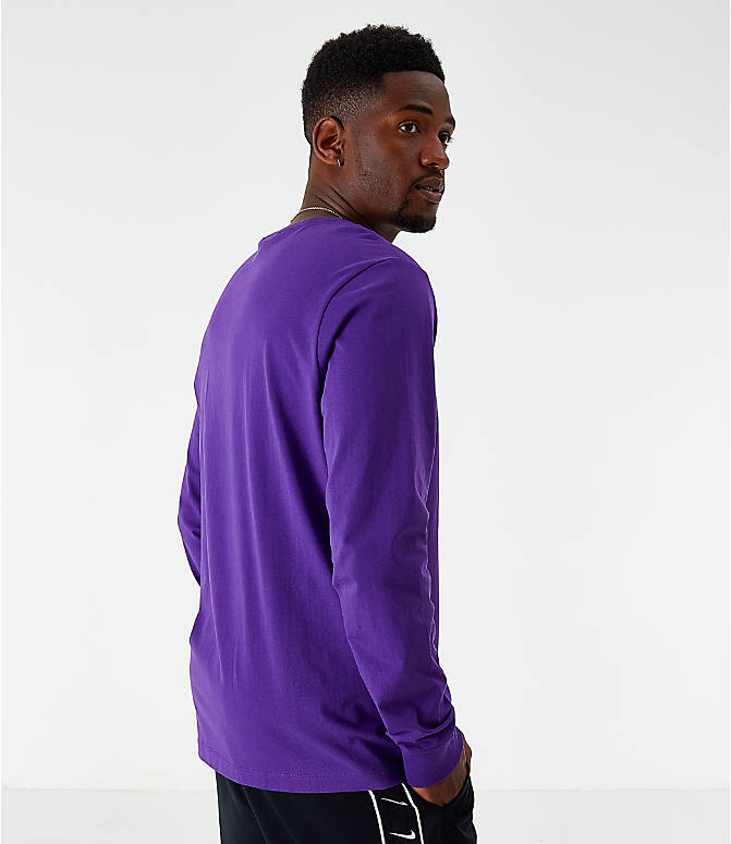 Back Left view of Men's Nike Sportswear Game Changer Long-Sleeve T-Shirt