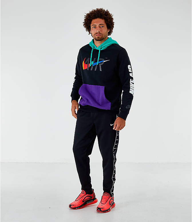 Front Three Quarter view of Men's Nike Sportswear Game Changer Hoodie in Black