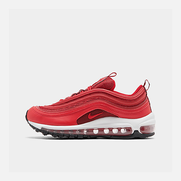 Right view of Women's Nike Air Max 97 Casual Shoes in Univ Red/Gym Red/Black/White
