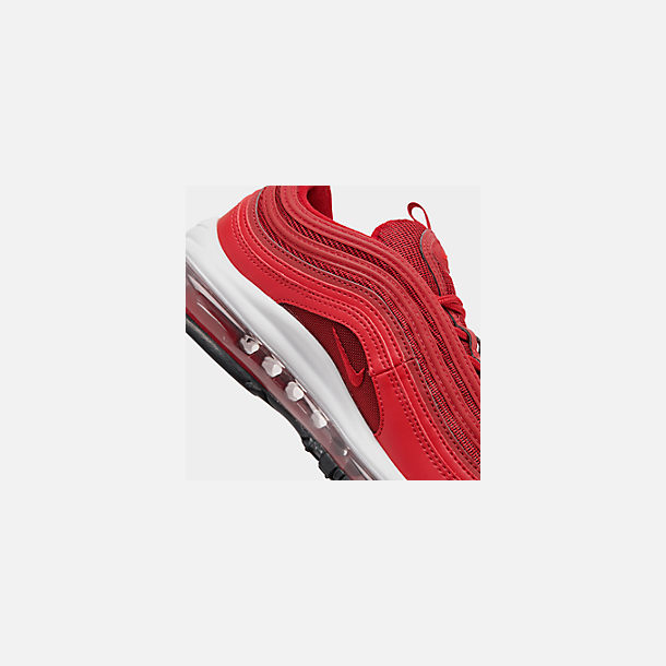 Front view of Women's Nike Air Max 97 Casual Shoes in Univ Red/Gym Red/Black/White