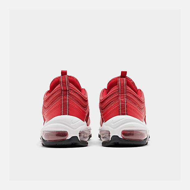 Left view of Women's Nike Air Max 97 Casual Shoes in Univ Red/Gym Red/Black/White