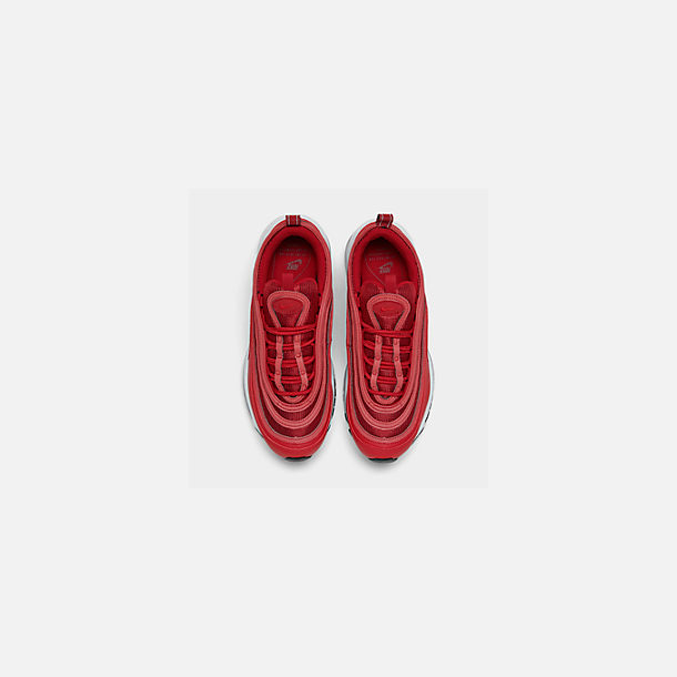 Back view of Women's Nike Air Max 97 Casual Shoes in Univ Red/Gym Red/Black/White