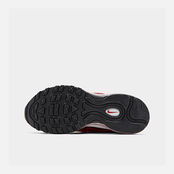 Bottom view of Women's Nike Air Max 97 Casual Shoes in Univ Red/Gym Red/Black/White