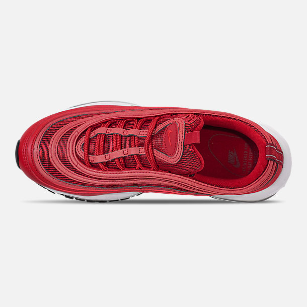 Top view of Women's Nike Air Max 97 Casual Shoes in Univ Red/Gym Red/Black/White