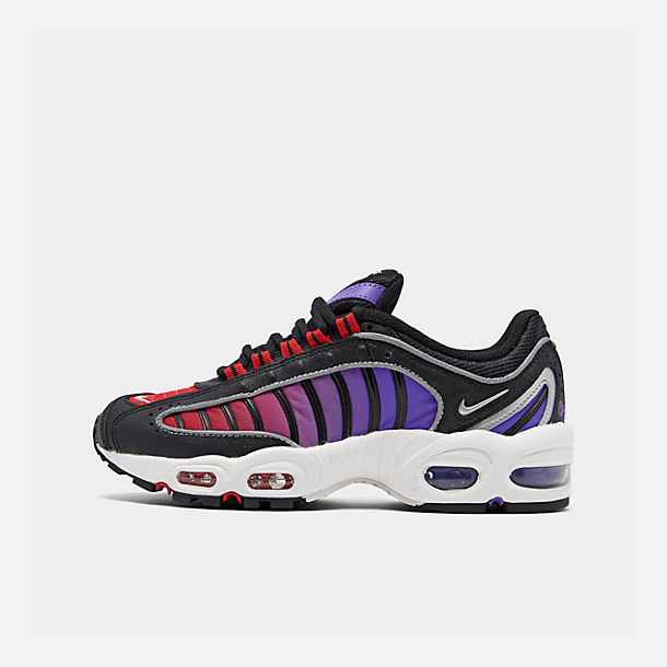 Right view of Women's Nike Air Max Tailwind 4 Casual Shoes in Black/White/Univ Red/Psychic Purple