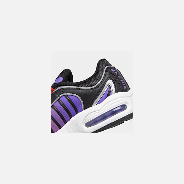 Front view of Women's Nike Air Max Tailwind 4 Casual Shoes in Black/White/Univ Red/Psychic Purple