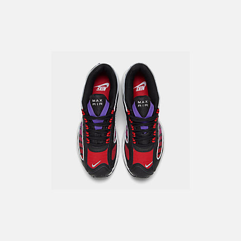 Back view of Women's Nike Air Max Tailwind 4 Casual Shoes in Black/White/Univ Red/Psychic Purple