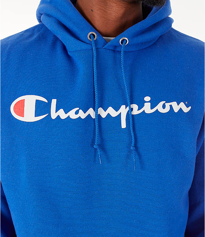 Detail 1 view of Men's Champion SC Graphic Hoodie in Royal