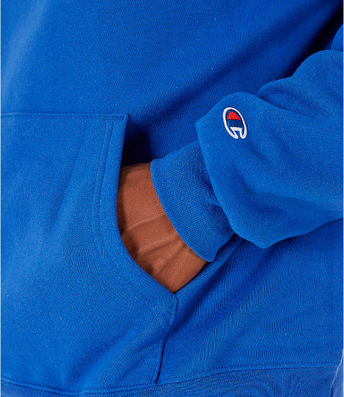 Detail 2 view of Men's Champion SC Graphic Hoodie in Royal