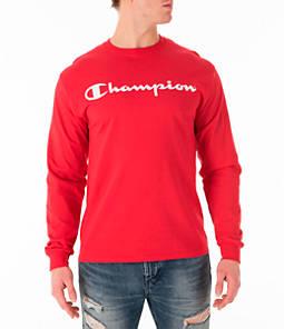 Men's Champion Script Long Sleeve T-Shirt
