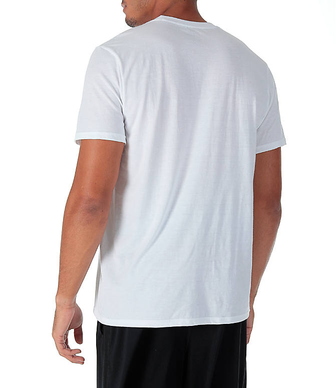Back Left view of Men's adidas Badge of Sport Boost T-Shirt in White/Grey