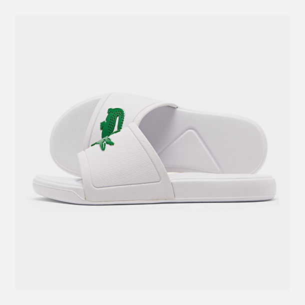 9d16ebb4c41d Right view of Boys  Little Kids  Lacoste L.30 Slide Sandals in White
