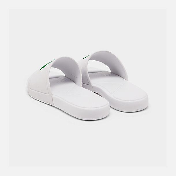 89fe8de24 Left view of Boys  Little Kids  Lacoste L.30 Slide Sandals in White