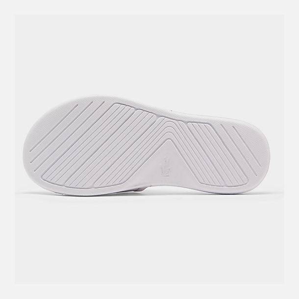 6607b3473 Bottom view of Boys  Little Kids  Lacoste L.30 Slide Sandals in White