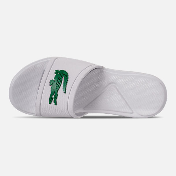 fb9c0b7c28e3 Top view of Boys  Little Kids  Lacoste L.30 Slide Sandals in White