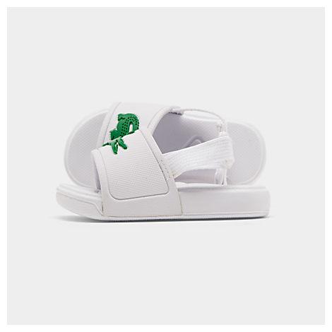 Lacoste Sandals BOYS' TODDLER L.30 SLIDE SANDALS, WHITE