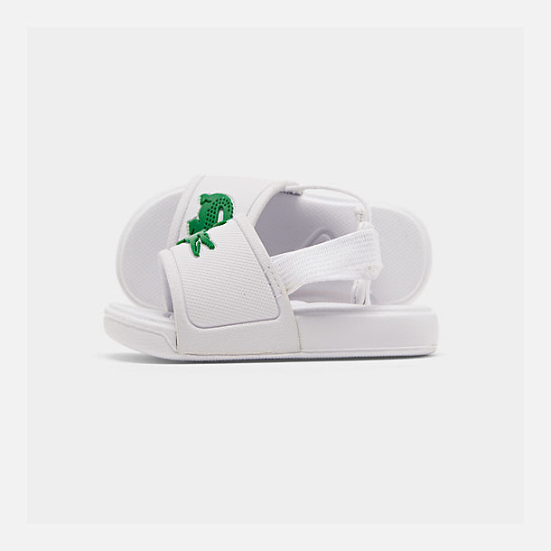 Right view of Boys' Toddler Lacoste L.30 Slide Sandals