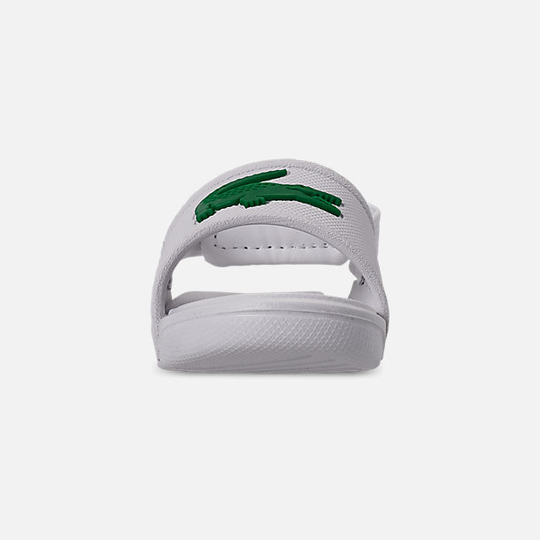 Front view of Boys' Toddler Lacoste L.30 Slide Sandals