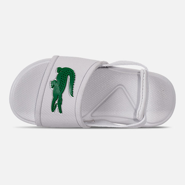 Top view of Boys' Toddler Lacoste L.30 Slide Sandals