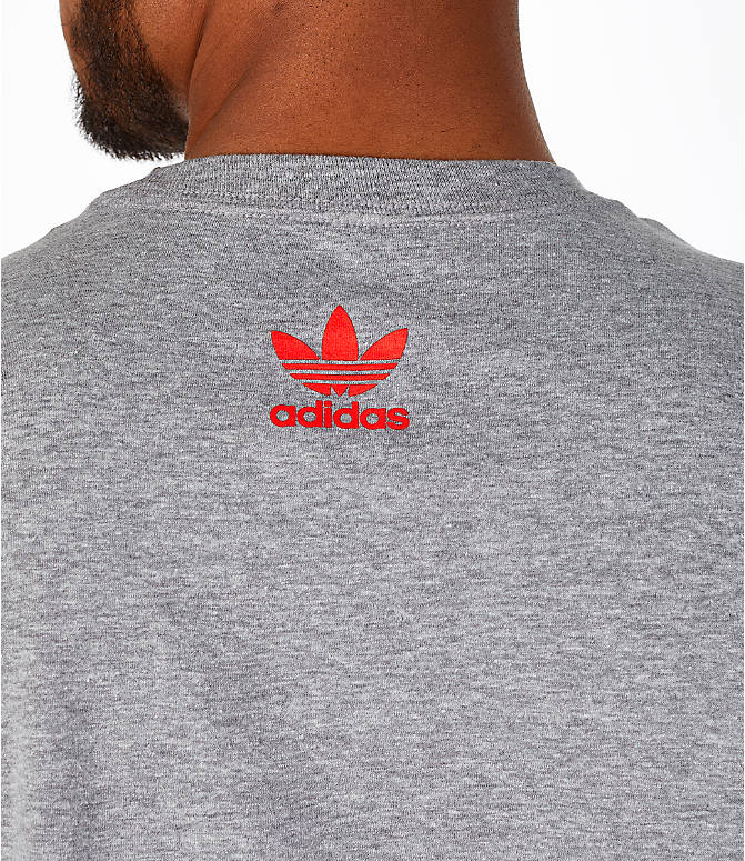 Detail 1 view of Men's adidas Originals OG Stacked T-Shirt in Grey