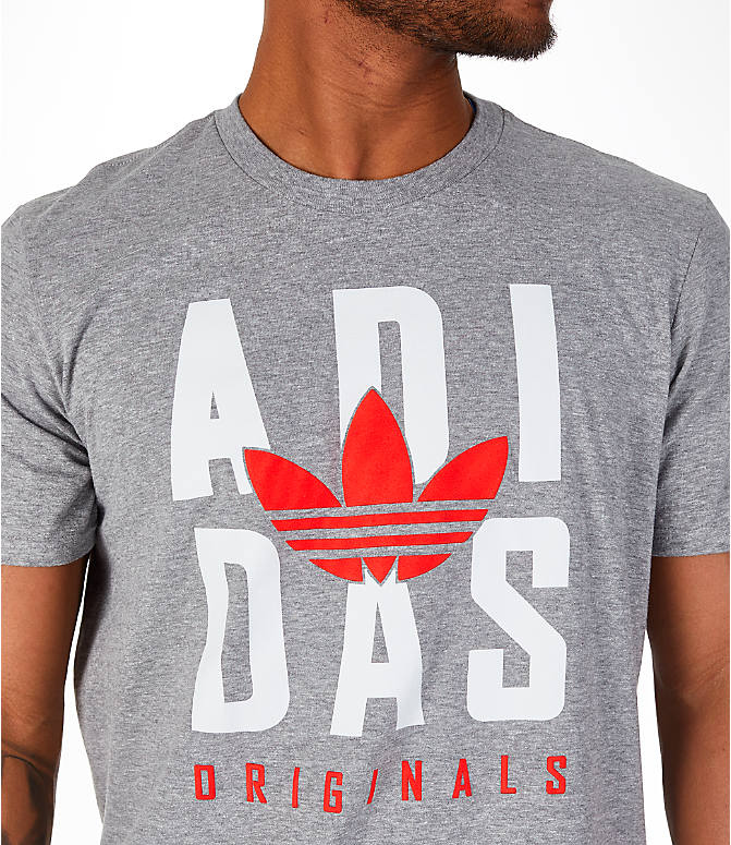 Detail 2 view of Men's adidas Originals OG Stacked T-Shirt in Grey