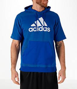 Men's adidas Sport Short-Sleeve Hoodie