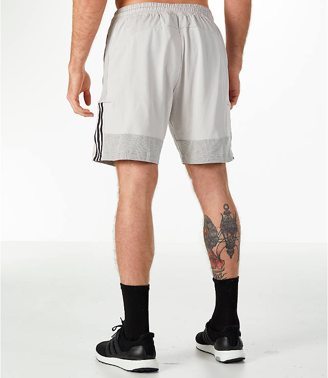 Back Left view of Men's adidas Sport SID Shorts in Grey