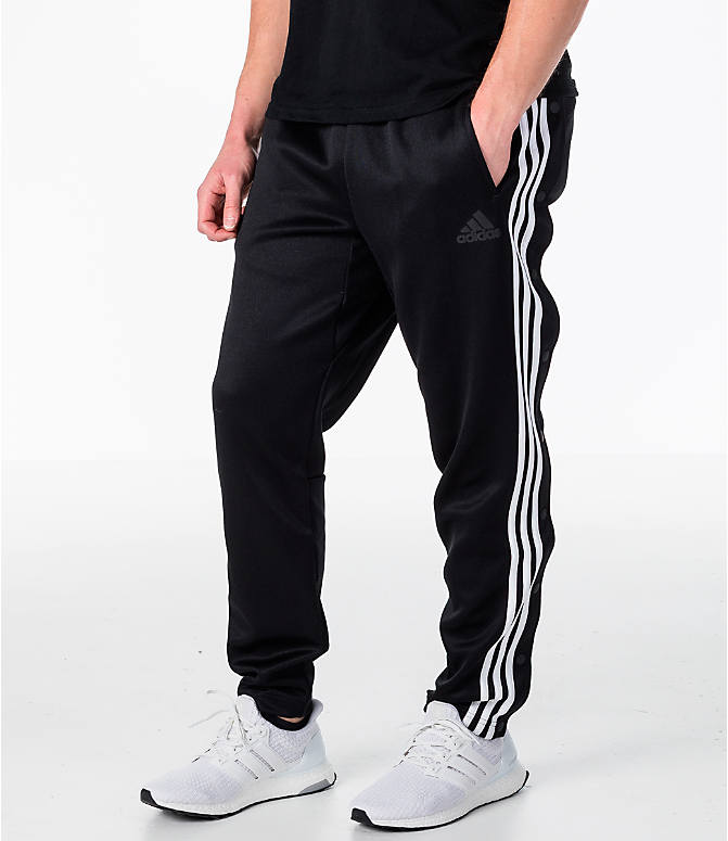 Front view of Men's adidas ID Snap Tack Pants in Black/White