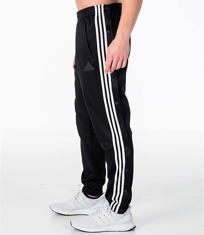 Front Three Quarter view of Men's adidas ID Snap Tack Pants in Black/White
