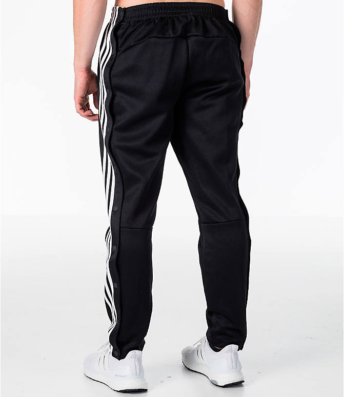 Back Left view of Men's adidas ID Snap Tack Pants in Black/White